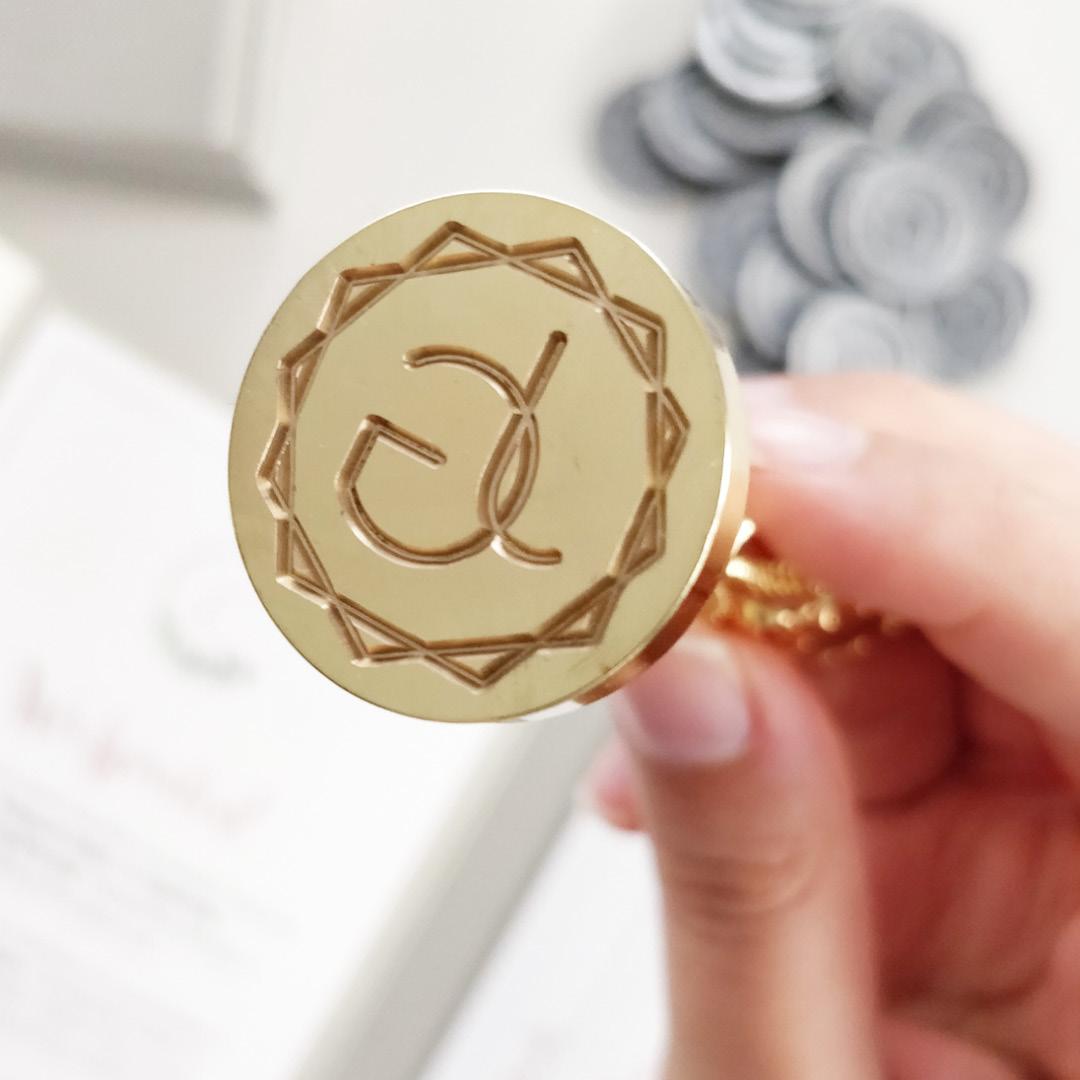 Personalisiertes Siegel, Produktfoto, Siegelstempel, Hochzeitslogo