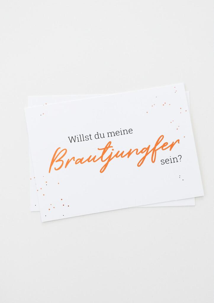 """Postkarte """"Willst Du meine Brautjungfer sein?"""", Produktfoto"""