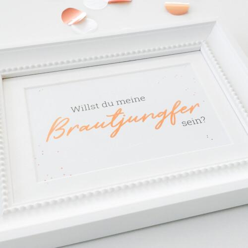Postkarte Brautjungfern, Geschenk, Fragen