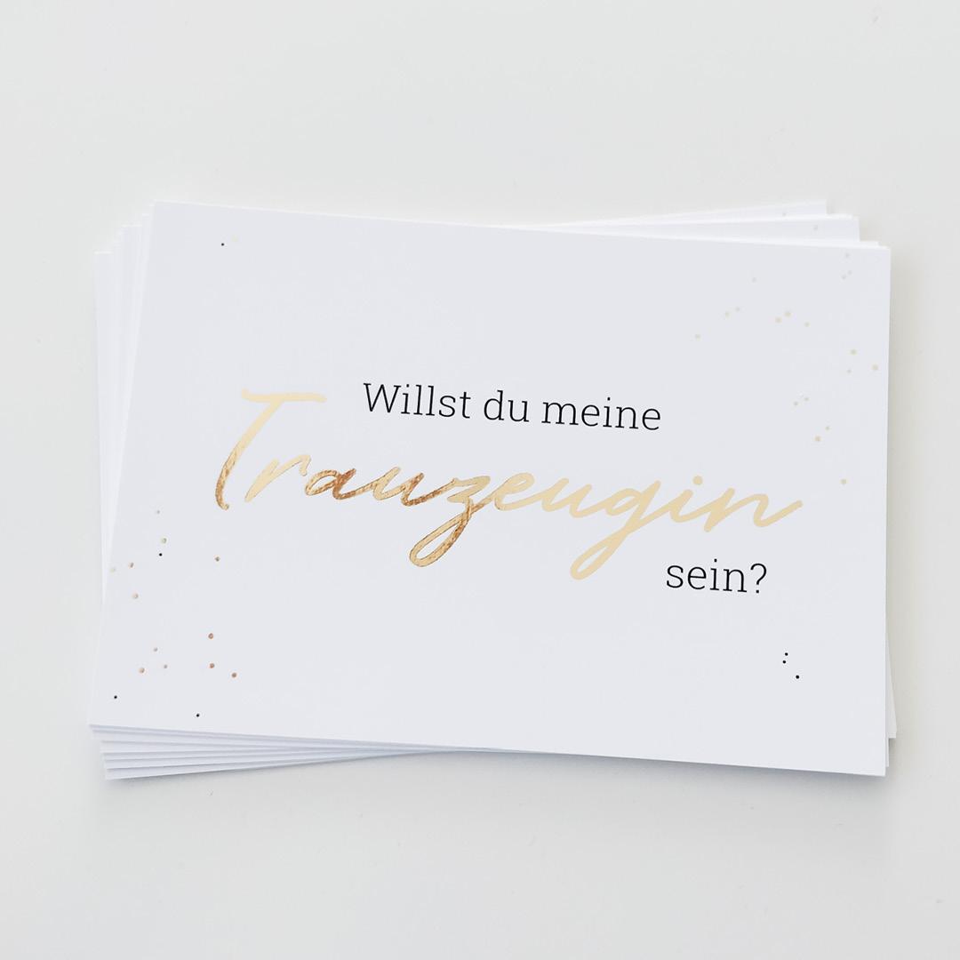 """Postkarte """"Willst Du meine Trauzeugin sein?"""", Produktfoto"""