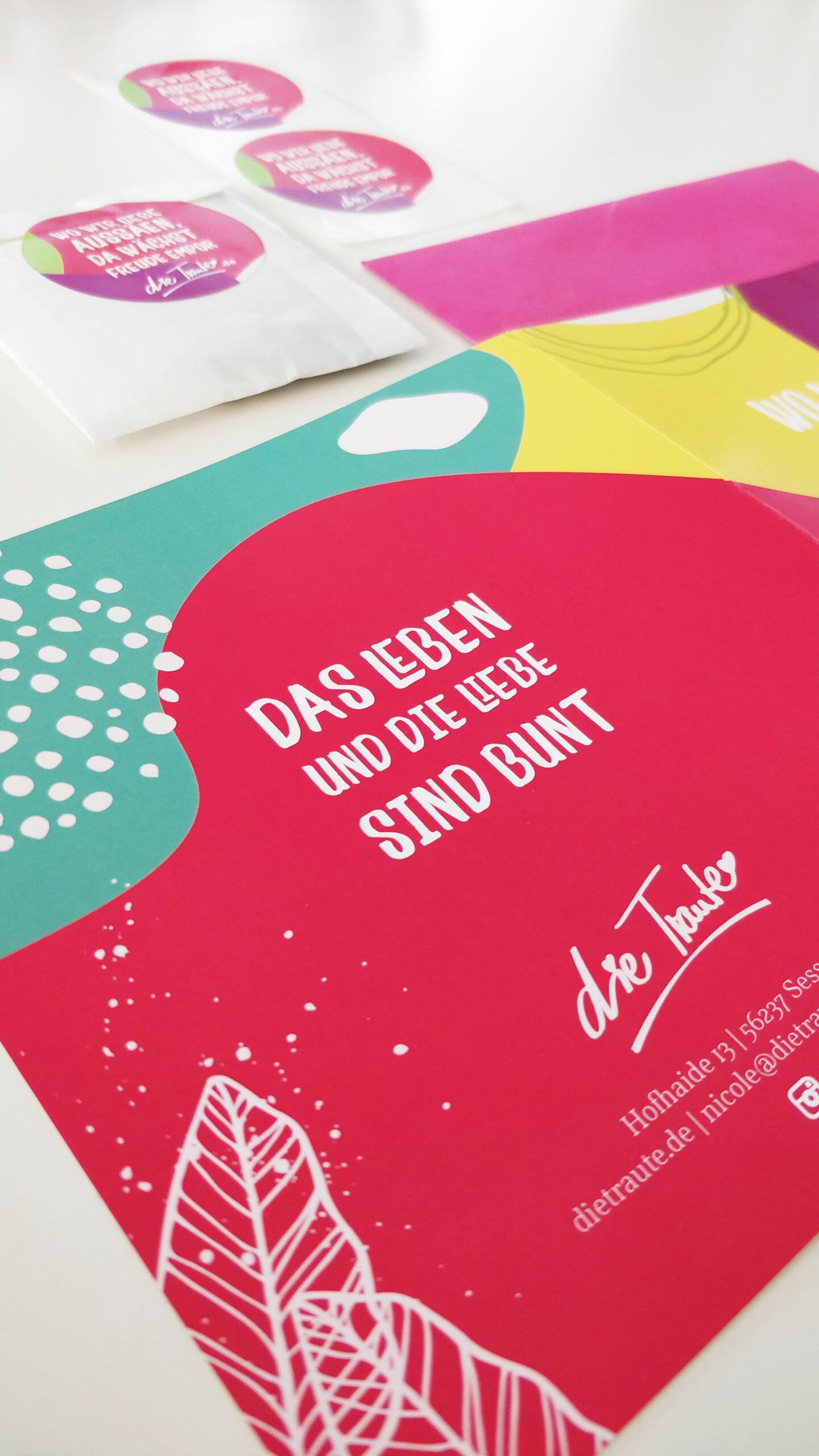 Weihnachtskarten, Postkarten, Unternehmensdesign, Traurednerin