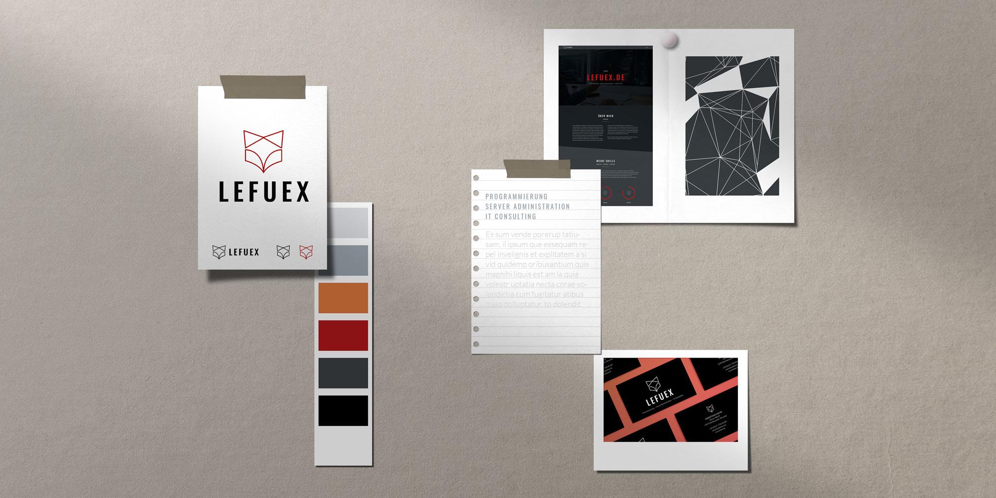 Moodboard Businessdesign, Branddesign