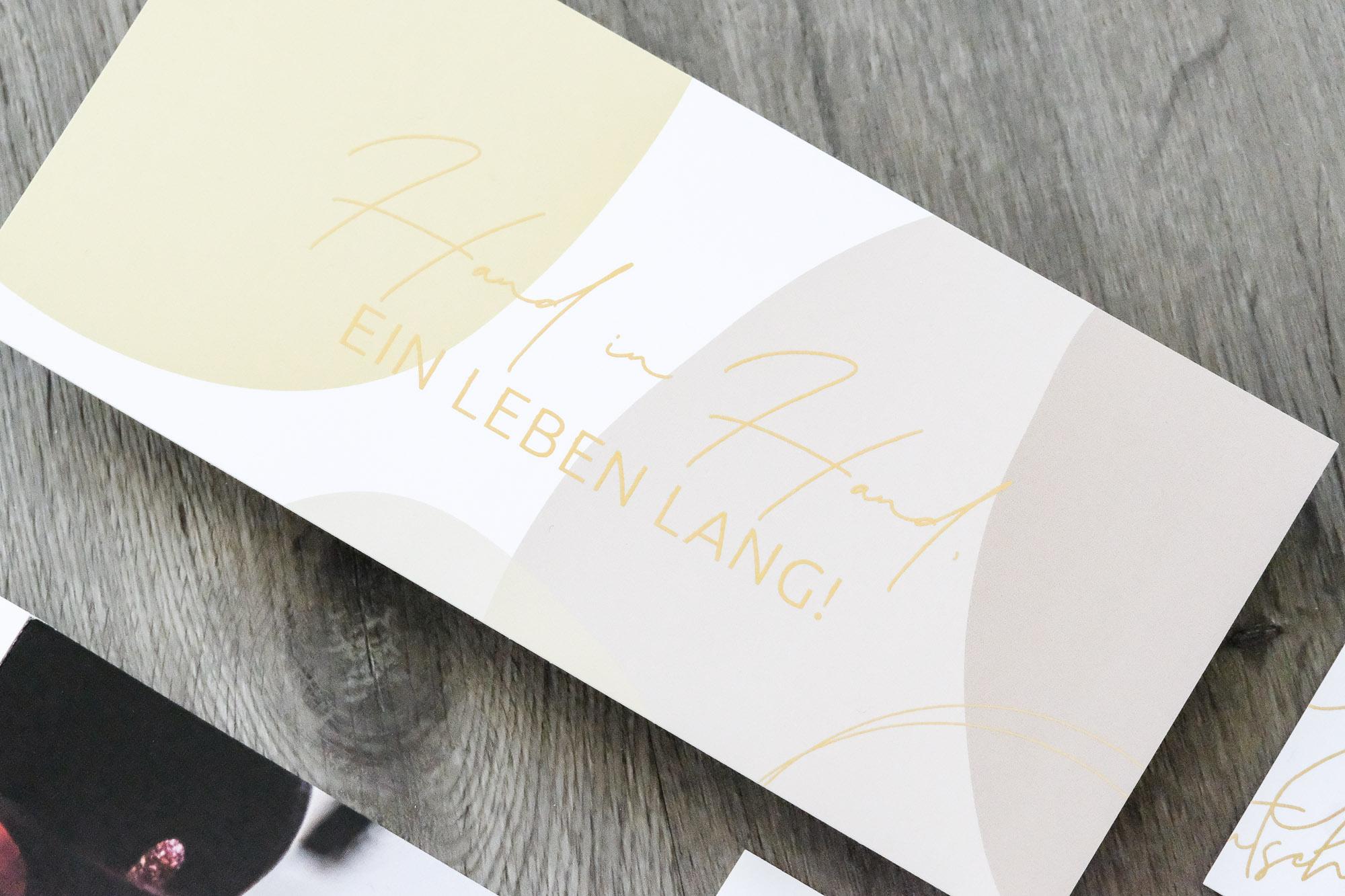 Postkarte Design Golddruck Goldschmiede Anna Wilwerscheid