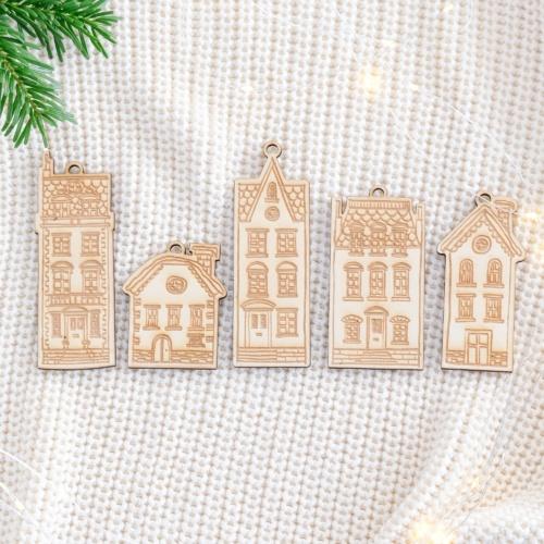 """Weihnachtsbaumschmuck Ornamente """"Häuser"""""""