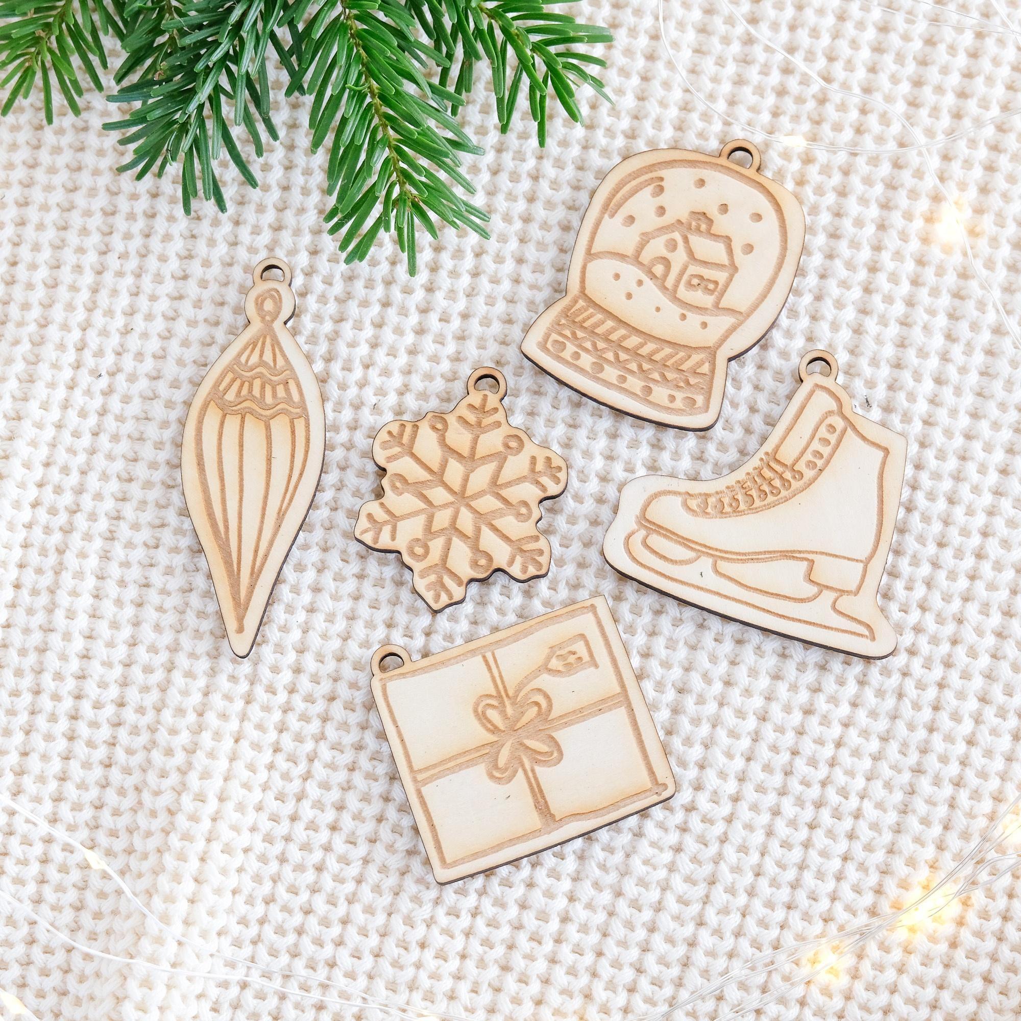 """Weihnachtsbaumschmuck Ornamente """"Winter"""""""